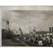 1933 Press Photo Belgian village at midway of Chicago World's Fair - nes40707