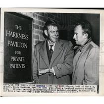 1948 Press Photo Clint Hartung, Bill Rigney of NY Giants at NY Harkess Pavillion