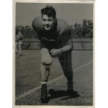 1939 Press Photo Dave Patterson of Stanford University Football Team - ors02144
