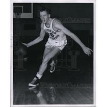 1960 Press Photo Ken Perason, Center for Southern California Basketball Team