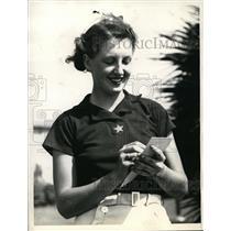 1936 Press Photo Ellaemae Williams at Miami Biltmore Amateur Golf in Florida
