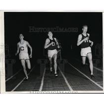 1938 Press Photo JD Lightbody, H Foster, JH Nivius at Boston track meet