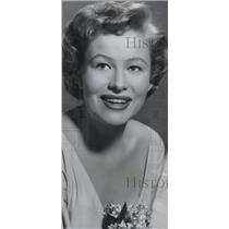 1953 Press Photo Nancy Olsen In So Big