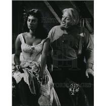 1958 Press Photo Sophia Loren, Burt Ives Desire Under Elms