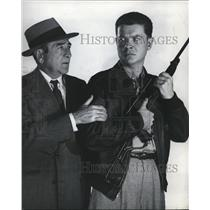 1952 Press Photo Adolphe Menjou and Arthur Franz are co-starred in The Sniper