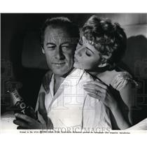1962 Press Photo Rex Harrison & Rita Hayworth in The Happy Thieves