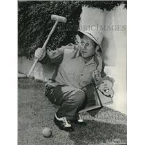 1959 Press Photo Art Linkletter at Oregon Centennial grounds