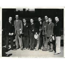 1932 Press Photo Spanish rifle team Jose Gonzales, Louis Calvet, Manuel Corrales