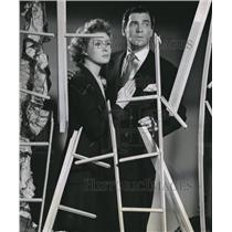 1942 Press Photo Greer Garson, Walter Pidgeon Screen Guild Players