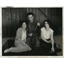 1932 Press Photo Ugo Cantelli Italian rifle team. Alba Guidarini, Lena Muzarelli