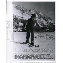 1958 Wire Photo Youngest Skier, Robertino Rossellini, son of Ingrid Bergman