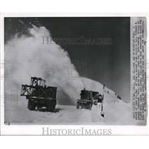1962 Wire Photo The Rotary plow clearing The U.S. Highway 6 - cvw09442