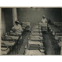 1945 Press Photo St. Alexis set for stork in its new baby ward - cva89298