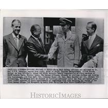 1955 Wire Photo West German officers welcomed by Gen CVR Schuyler - cvw05932