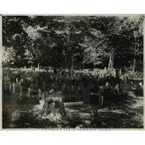1928 Press Photo The Cleveland's Cemetery - cva90220