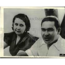 1936 Press Photo Fulgencio Batista with his wife - cva97547