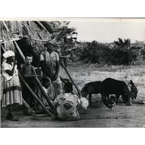 1972 Press Photo A family in Pemambuco Brazil - cvb04696