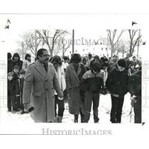 1986 Press Photo Pray at freedom academy for the fallen astronauts - cva77613