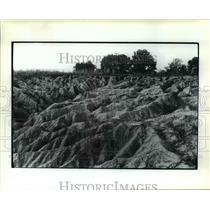 1983 Press Photo Severe erosion-Western Tennessee - orb49527