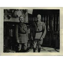1918 Press Photo Gen. Foch and Gen. Pershing at Pershing's library in France