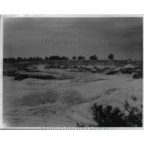 1956 Press Photo Sandpit at R.W. Sidley, Inc. in Thompson, Ohio - cvb03249
