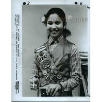 1985 Press Photo Markita Andrews, the greatest GirlScout cookie Saleperson of