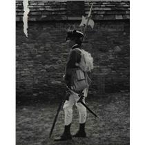 1978 Press Photo Jeff Sondles during the Revolutionary war re enactment