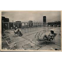 1968 Press Photo Chesterfield Apartment swimming pool in Cleveland Ohio