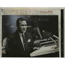 1960 Press Photo Sen.Lorenzp Sumulong of the Philippine, Delegates at UN