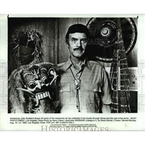1984 Press Photo Adventurer, John Goddard with some of his mementos - cva97266