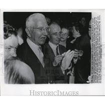 1955 Wire Photo Hitler's chief financial adviser Dr. Hjalmar Schacht - cvw08346