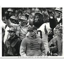 1981 Press Photo Cincinnati Bengal Fans during Cleveland Browns VS Bengals