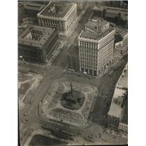 1928 Press Photo Public Square from Terminal Tower View - cva86071