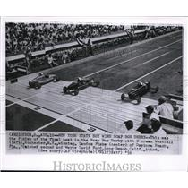 1956 Wire Photo Norman Westfall winning the Soap Box Derby in Akron - cvw09621