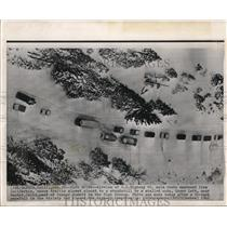 1962 Wire Photo The snowy U.S, Highway 40 main route eastward from California