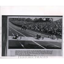 1960 Wire Photo All the spectators are on their feet as 11 year old Frederic