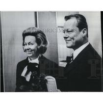 Press Photo Willy Brandt and wife Ruth
