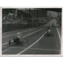 1939 Press Photo The finish of the Soap Box derby - cva78551