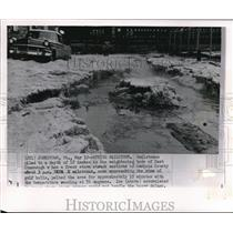1960 Wire Photo The hailstones piled to a depth in the neighboring boro