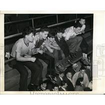1941 Press Photo Dodger fans at game versus St Louis Cardinals in Brooklyn