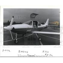 1992 Press Photo Dan Goetz In The Cockpit Of Speedy Lanclair IV Kit Airplane