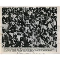 1952 Press Photo Yankee Stadium crowds at World Series Yankees vs Dodgers