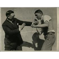 1928 Press Photo Kid Wedge former boxer & Rev Frederick Wedge - nes41511