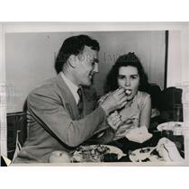 1940 Press Photo Boston College football Joe Zabliski & Miss Rita Krohn