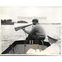 1934 Press Photo Head coach Charles Whiteside of Harvard University crew