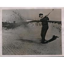1936 Press Photo Ray Mangrum practice for PGA Tournament at Pinehurst NC