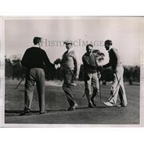 1936 Press Photo PGA golf at Pinehurst NC RP Davidson, CE Sherman - nes42188