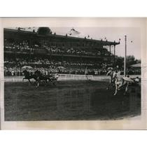 1936 Press Photo Hippodrome track race in Moscow Russia Grand All Union race