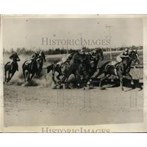 1930 Press Photo North Pacific Fair horse races near Seattle Washington