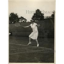 1926 Press Photo Helen Wills defeats Mrs Howard Davis at Seabright tennis